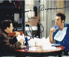 Michael Richards Jason Alexander Signed 8x10 Photo Autograph Seinfeld Coa