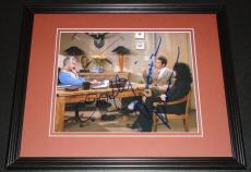 Michael Richards & John O'Hurley Dual Signed Framed 8x10 Photo JSA Seinfeld