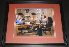Michael Richards & John O'Hurley Dual Signed Framed 8x10 Photo JSA Seinfeld
