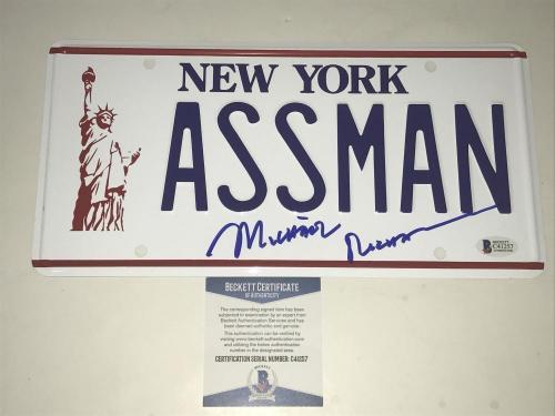 Michael Richards Signed Assman License Plate Authentic Autograph Proof Bas Coa