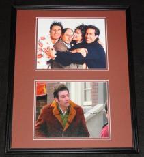 Michael Richards Signed Framed 16x20 Seinfeld Photo Set JSA Cosmo Kramer