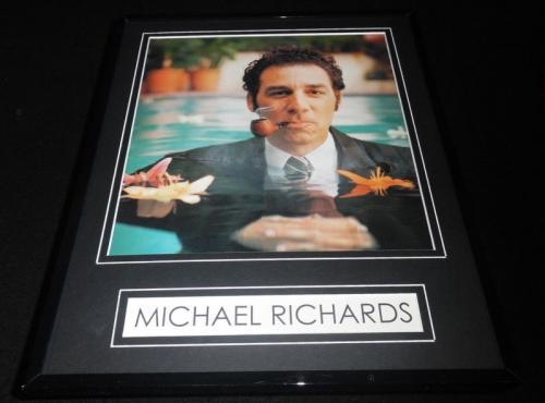 Michael Richards Smoking Framed 11x14 Photo Display Kramer Seinfeld