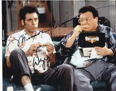 Michael Richards Wayne Knight Signed 8x10 Authentic Autograph Seinfeld Coa B