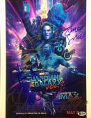 Michael Rooker S Gunn Zoe Saldana Guardians of the Galaxy Signed 11x14 Photo BAS