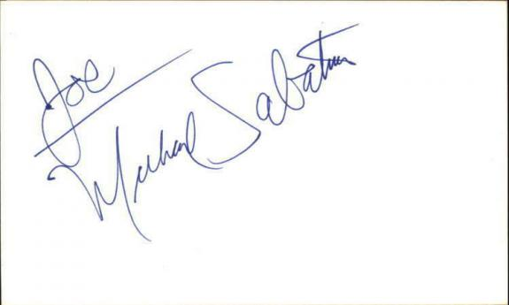 "MICHAEL SABATINO DAYS OF OUR LIVES Signed 3""x5"" Index Card"