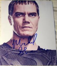 "Michael Shannon Signed Autograph Superman ""man Of Steel"" Rare Zod Promo Photo"