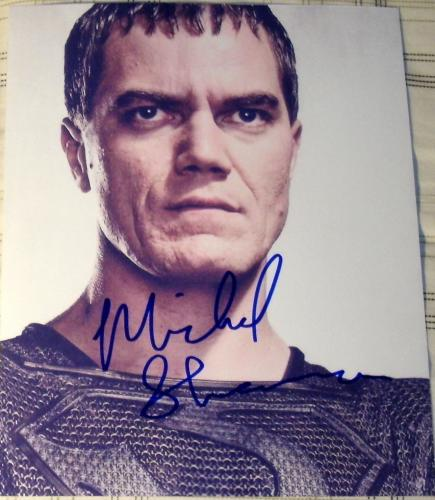 "Michael Shannon Signed Autograph Superman ""man Of Steel"" Rare Zod Promo Photo"