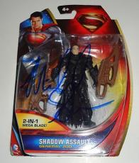 MICHAEL SHANNON signed *SUPERMAN* MAN OF STEEL ZOD Toy W/COA *PROOF* ASSAULT