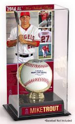 Michael Trout Los Angeles Angels of Anaheim 2014 American League MVP Gold Glove with Image Display Case
