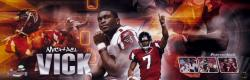Michael Vick Atlanta Falcons Autographed Panoramic Collage Photograph-Limited Edition of 107