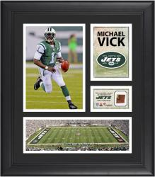 Michael Vick New York Jets Framed 15'' x 17'' Collage with Game-Used Football