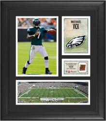 "Michael Vick Philadelphia Eagles Framed 15"" x 17"" Collage with Game-Used Football"