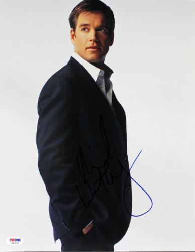 Michael Weatherly NCIS Signed 11X14 Photo Autographed PSA/DNA #S87476