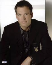 Michael Weatherly NCIS Signed 11X14 Photo PSA/DNA #Q85520