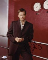 Michael Weatherly NCIS Signed 11X14 Photo PSA/DNA #Q85522