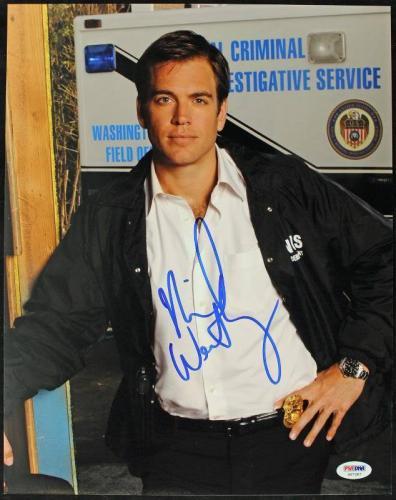 Michael Weatherly NCIS Signed 11X14 Photo PSA/DNA #S67287
