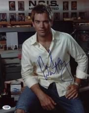 Michael Weatherly NCIS Signed 11X14 Photo PSA/DNA #S87473