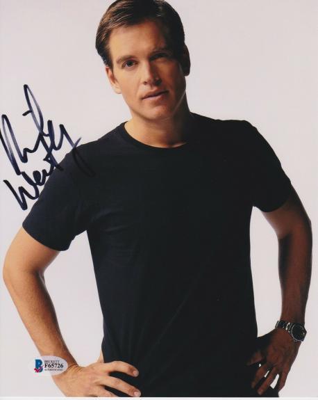 Michael Weatherly Signed 8x10 Photo Bull Ncis Beckett Bas Autograph Auto Coa A