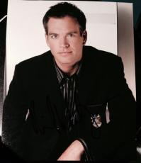 "Michael Weatherly Signed Autograph ""ncis"" Casual Stud Promo 8x10 Photo Coa"