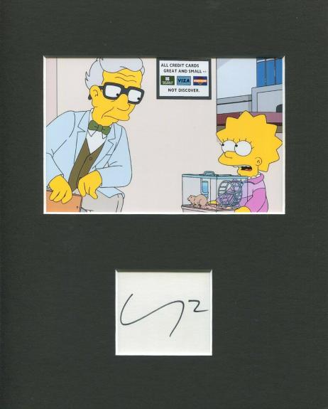Michael York The Simpsons Dr. Budgie Voice Signed Autograph Photo Display