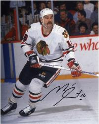 "Michel Goulet Chicago Blackhawks Autographed 8"" x 10"" Photograph"