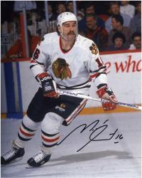 """Michel Goulet Chicago Blackhawks Autographed 8"""" x 10"""" Photograph"""