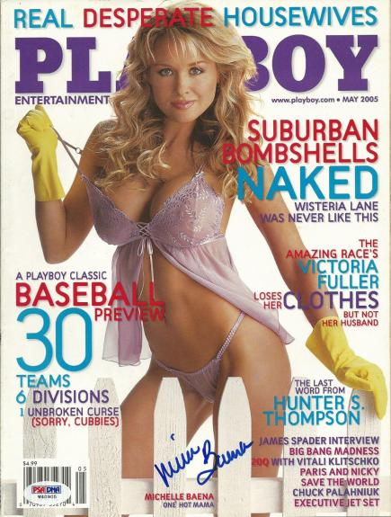 Michelle Baena Signed May 2005 Playboy Magazine PSA/DNA Bench Warmer Autograph