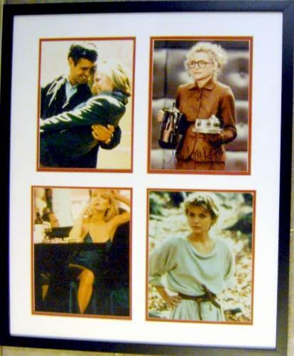 Michelle Pfeiffer autographed 8x10 photo (Signed  on Batman photo Deluxe framed with LadyHawke, One Fine Day, & Scarface photos)