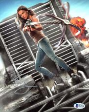 """Michelle Rodriguez Autographed 8"""" x 10"""" The Fast & Furious Holding Anchor Photograph - Beckett COA"""