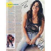 "Michelle Rodriguez Autographed ""Lost"" Celebrity 8x10 Magazine Page"