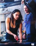 Michelle Rodriguez Luke Evans Signed 10X13 Photo Fast & Furious JSA T60103
