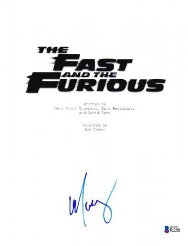 Michelle Rodriguez Signed Fast And Furious Script Beckett Bas Autograph Auto Coa