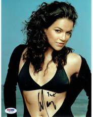 Michelle Rodriguez Signed Fast & Furious Autographed 8x10 Photo (PSA/DNA)#W71723