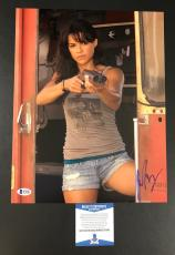 Michelle Rodriguez Signed The Fast And The Furious 11x14 Photo Bas Coa Beckett 3