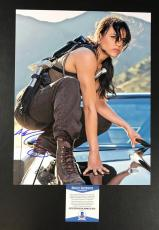 Michelle Rodriguez Signed The Fast And The Furious 11x14 Photo Bas Coa Beckett 4