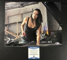 Michelle Rodriguez Signed The Fast And The Furious 11x14 Photo Bas Coa Beckett 6