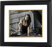 Michelle Rodriguez signed The Fast and the Furious Letty 11X14 Photo Custom Framed (horizontal)- Beckett Holo #B70602