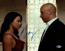 MICHELLE RODRIGUEZ The Fast And The Furious Signed 11x14 Photo BECKETT #C04147
