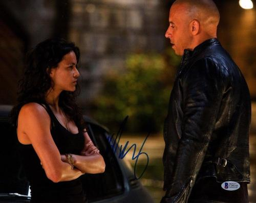 MICHELLE RODRIGUEZ The Fast And The Furious Signed 11x14 Photo BECKETT #C04148