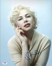 Michelle Williams Signed 11x14 Photo PSA/DNA COA Gem Mint 10 Auto Marilyn Monroe