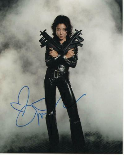 Michelle Yeoh Signed Autograph 8x10 Photo - Pierce Brosnan Tomorrow Never Dies