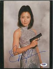 Michelle Yeoh Signed James Bond Authentic Autographed 8x10 Photo PSA/DNA #Q33730