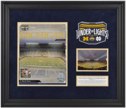 Michigan Wolverines First Night Game Framed Program Print Art with Descriptive Plate
