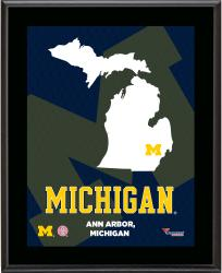 "Michigan Wolverines Sublimated 10.5"" x 13"" State Plaque"