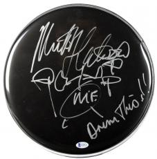"Mick Fleetwood ""Drum This!!"" Signed 12 Inch Black Drumhead w/Sketch BAS #B38523"