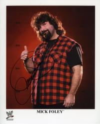 Mick Foley Autographed 8'' x 10'' Pose Photograph - Mounted Memories