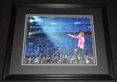Mick Jagger 2005 Rolling Stones at Fenway Park Framed 8x10 Photo