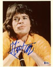 "Mick Jagger Autographed 8"" x 10"" The Rolling Stones  Photograph - BAS COA"