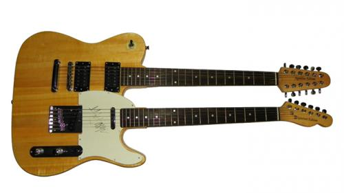 Mick Jagger Autographed Signed Double Neck Guitar UACC RD AFTAL