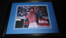 Mick Jagger Draped in Flag Framed 8x10 Photo Poster Rolling Stones